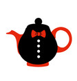kettle with tea vector image vector image