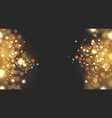 light bokeh particles golden vector image