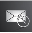 mail icon background vector image vector image