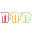 Measuring jugs set vector image