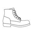 men shoes brogue trim platform brutus boots vector image vector image