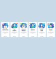 mobile app onboarding screens loading business vector image