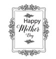 mother day elegant inscription lettering vector image vector image