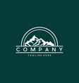 mountain landscape nature creative logo vector image vector image
