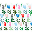Multicolored roses seamless pattern flower vector image vector image