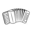 music instrument accordion cartoon vector image
