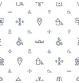 navigation icons pattern seamless white background vector image vector image