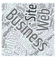 Online Turnkey Business Web Site Word Cloud vector image vector image