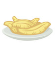 organic food tropical banana on plate served vector image