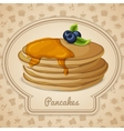 Pancakes with syrup poster vector image