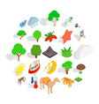preserve icons set isometric style vector image vector image