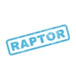 Raptor Rubber Stamp vector image