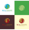 real estate logo and icon vector image vector image