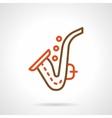 Saxophone simple color line icon vector image vector image