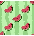 seamless pattern of watermelon vector image vector image