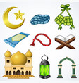 set collection of ramadan element vector image