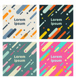 set of abstract covers with flat geometric vector image vector image