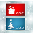 set of christmas new year banners cards vector image