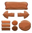 set wooden signs vector image