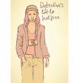 Sketch detectives helper in Mafia board game vector image vector image