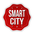 smart city label or sticker vector image