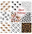 Sport balls items seamless patterns set vector image vector image