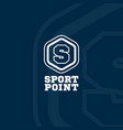 sport point logo vector image