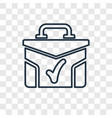 suitcase with check concept linear icon isolated vector image