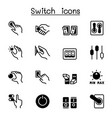 switch icons set graphic design vector image