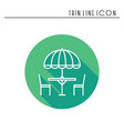 thin line icons set table and chair outside vector image vector image