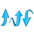 up and down blue arrows hand drawn sketch vector image vector image