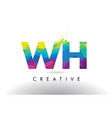 wh w h colorful letter origami triangles design vector image vector image