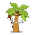 witch palm tree character cartoon vector image vector image