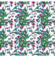 Hand drawing floral background Seamless pattern vector image