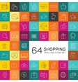 E-commerce and shopping icons Thin line design vector image