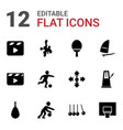 12 action icons vector image vector image