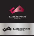 abstract home logo vector image vector image
