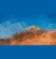 abstract polygonal background blue sky mountain vector image vector image