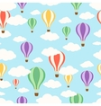 Air balloons in the sky Seamless pattern vector image vector image
