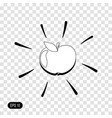 apple icon isolated on transparent background vector image vector image