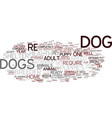 are you ready for a dog text background word vector image vector image