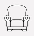 armchair icon line element of vector image
