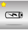battery black icon button logo symbol vector image vector image
