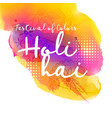 beautiful indian holi festival design vector image vector image