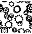 black and white gears working mechanism seamless vector image