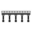 bridge icon simple style vector image vector image