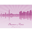 buenos aires skyline in purple radiant orchid vector image vector image