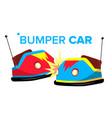 bumper car attraction hotroad amusement vector image vector image