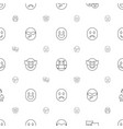 cheerful icons pattern seamless white background vector image vector image