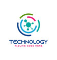 circle technology logo design vector image vector image